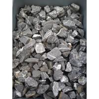 Чёрная мраморная крошка 20-40 мм. Камень декоративный ландшафтный природный натуральный.